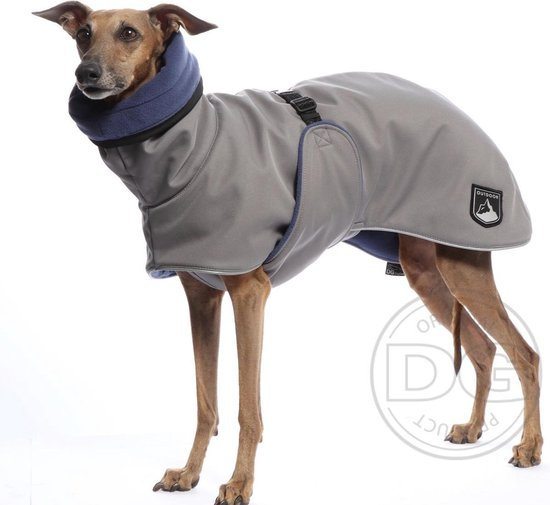 DG Soft Shell® Warme hondenjas Grijs - Maat 22 (15-30kg) DGL2