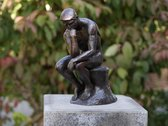 Beeld Rodin de denker brons 30 cm – bronzen beelden voor binnen en buiten | GerichteKeuze