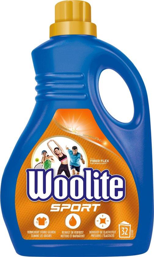 Woolite Sport Wasmiddel met Fiber Flex Technology - 32 Wasbeurten - 1,9 L