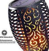 Solar LED tuinfakkel zwart Tuinverlichting/tuindecoratie led fakkels - Buitenverlichting