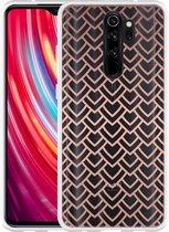 Xiaomi Redmi Note 8 Pro Hoesje Pink Pattern