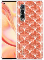 Oppo Find X2 Pro Hoesje White Abstract Pattern