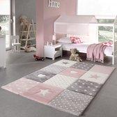 Merinos Kinderkamer Vloerkleed - 80x150 cm - Roze
