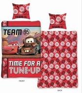 Disney Cars Tune-up - dekbedovertrek - eenpersoons - 140 x 200 - Rood
