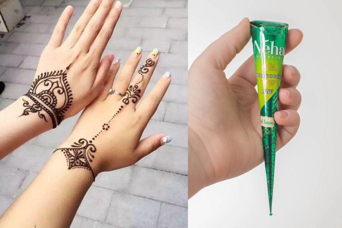 Henna Tattoo inkt pasta cone tube 25 Gram / Natuurlijke Kruiden - Henna pasta - 25 gr/