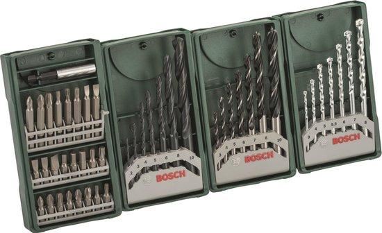 Bosch X-Line borenset - 46-delig - Voor hout, metaal en steen
