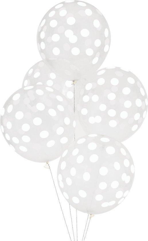 My Little Day - Ballonnen - Bollen wit - set 5 - 30cm