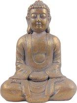 Boeddha Beeld - Gouden Boeddha - Boeddha tuinbeeld - Boeddha interieur beeld - Rustgevend beeld - Decoratiestuk - Filosofische Boeddha - Religieus Beeld - Dhyana Mudra houding - Meditatie Boeddha - Meditatie beeld - Rustgevend interieur