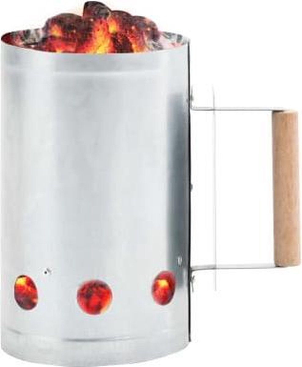 Hip-Wonen.nl - Houtskoolstarter - barbecue accessoires - BBQ starter - brikettenstarter