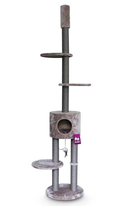 Petrebels Anna 240 krabpaal - Cappuccino - 240 tot 265 cm - met plafondspanner