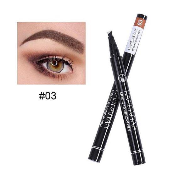 Joya Beauty® Microblading Eyebrow Tattoo Pen   Waterproof Tattoo Wenkbrauw Pen   Wenkbrauwpen   Kleur 3: Chestnut