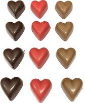 Joe & Mien Overheerlijke Chocolade hartjes assorti - 12 stuks