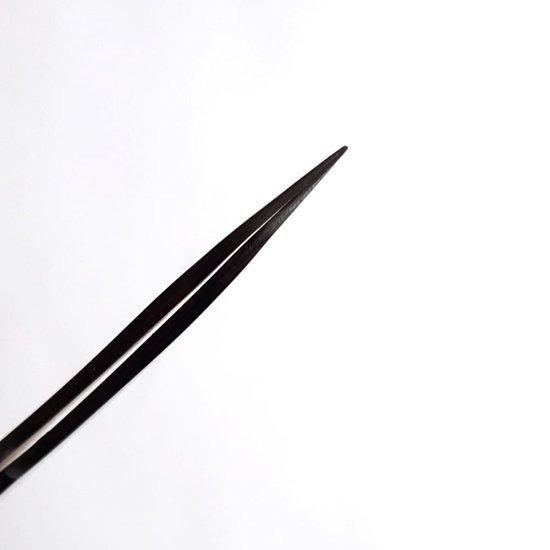 BlackLine Set van 2 professionele pincetten  voor wimperextensions - Black Line