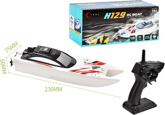 Rc race boot H129 - oplaadbaar - 2.4GHZ zender - 10km/h - 1:47