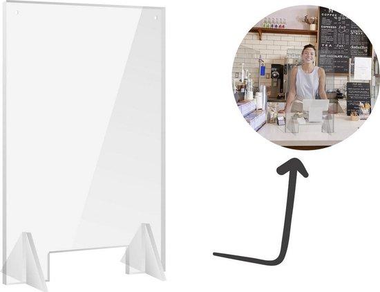 Plexiglas scherm 70x100 cm Large | Toonbank spatscherm |  preventie -|VitrineMedia