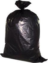 Afvalzakken, 70 x 80 cm, 84 liter, Zwart, 20 Afvalzakken Per Rol (doos 25 x 20 stuks)