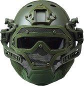 RTQ G4-systeem PJ-helm en volledig masker, OD-groen, Raptors AIrsoft's ultieme Juggernaut airsoft-helm en volledig gelaatsbeschermingssysteem
