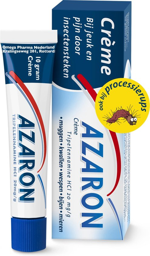 Azaron Creme - Tegen jeuk en pijn door insectensteken, zoals bijen, mieren en door de processierups - 10 gram