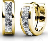 Yolora Oorringen Swarovski Kristallen - goud kleurig - dames - YO-151
