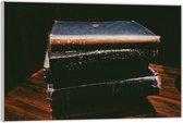 Plexiglas –Opgestapelde oude Boeken– 120x80 (Wanddecoratie op Plexiglas)
