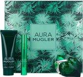 Thierry Mugler Aura Geschenkset 30ml EDP Navulbaar + 50ml Body Lotion + Perfum Pen