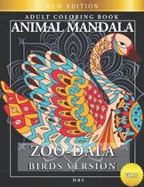 Zoo-Dala Birds Version Vol 27, Animal Mandala, Adult Coloring Book