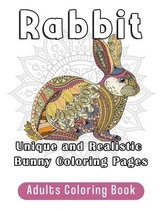 Rabbit Adults Coloring Book