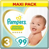 Pampers Premium Protection Maat 3, x99 Luiers, 6kg-10kg