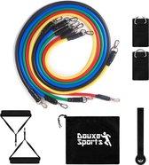 Weerstandsbanden Premium Set - Fitness Elastiek Weerstandsbanden - Resistance Band Set - Douxe