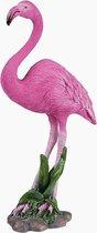 Flamingo decoratie beeld flamingo figuur polystone 20 cm