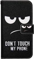 ADEL Kunstleren Book Case Portemonnee Pasjes Hoesje voor Samsung Galaxy A3 (2016) - Don't Touch My Phone