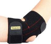 WiseGoods Elleboog Brace voor Tennisarm - Bandage Ondersteuning - Steun Slijmbeursontsteking - Sportblessure - Zwart