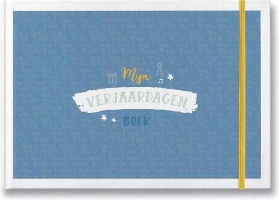 Mijn verjaardagenboek - blauw - invulboek voor verjaardagsherinneringen baby en kind