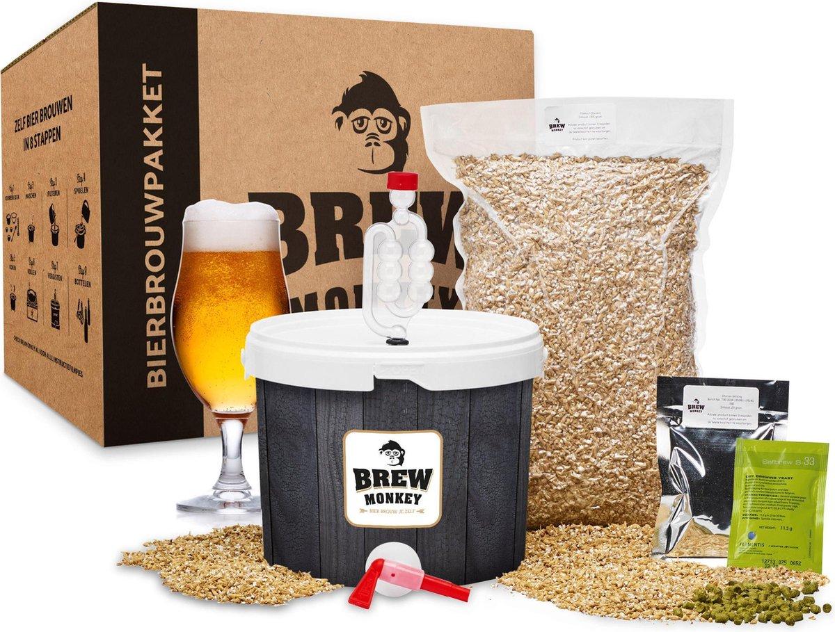 Brew Monkey Bierbrouwpakket - Basis Blond - Zelf bier brouwen - Brouwpakket