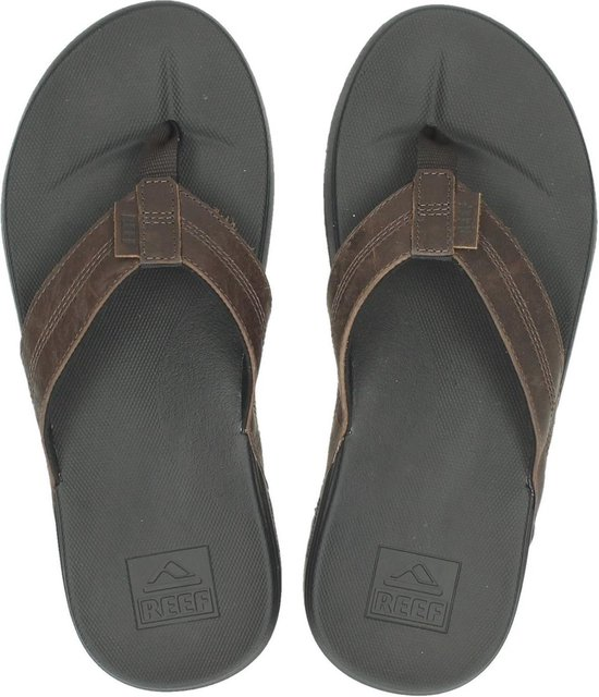 Reef Cushion Bounce Phantom Le Heren Slippers - Black/Brown - Maat 47