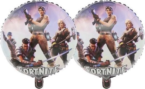 Fortnite Folieballonnen - 2 Stuks - Fortnite Feestversiering