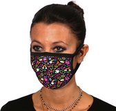 Mondmaskers met hippie print | mondkapje OV wasbaa
