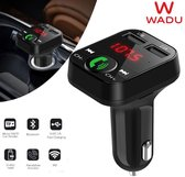 Wadu Bluetooth FM Transmitter - Bluetooth Radio - Bluetooth Car Player - Auto Oplader - Bluetooth handsfree carkit