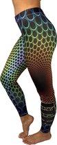 jtb-store - high waist sport legging yogalegging dames  - fantasy print  - maat L