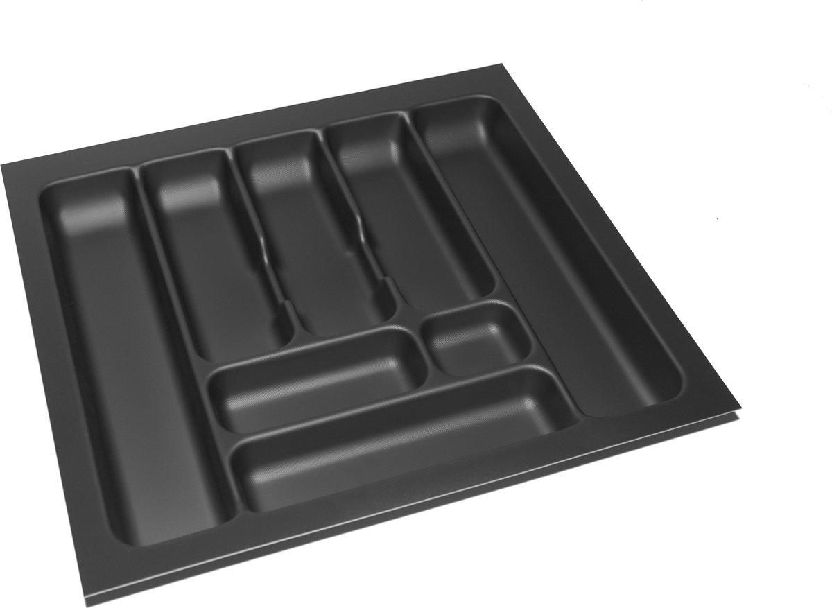 Culinorm Storex Bestekbak - Besteklade 54 cm breed x 49 cm diep - Carbon Black
