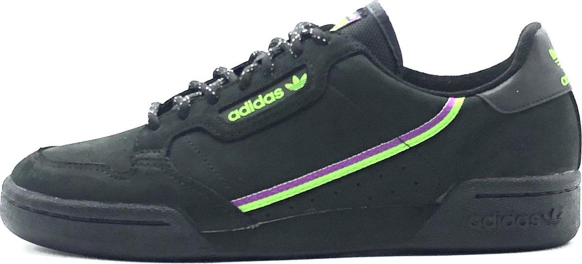 Adidas Continental 80 (Zwart/Groen/Paars) - Maat 41 1/3
