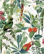 Escapade tropische vogels groen papegaaien (vliesbehang, groen)