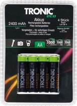 Oplaadbare batterijen AA 4 stuks - 2400mAh tronic ECO
