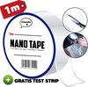 Nano tape + gratis test strip || Hoge kwaliteit wasbare en herbruikbare nano tape - Magic gekko nanotape - 1 meter dubbelzijdige tape