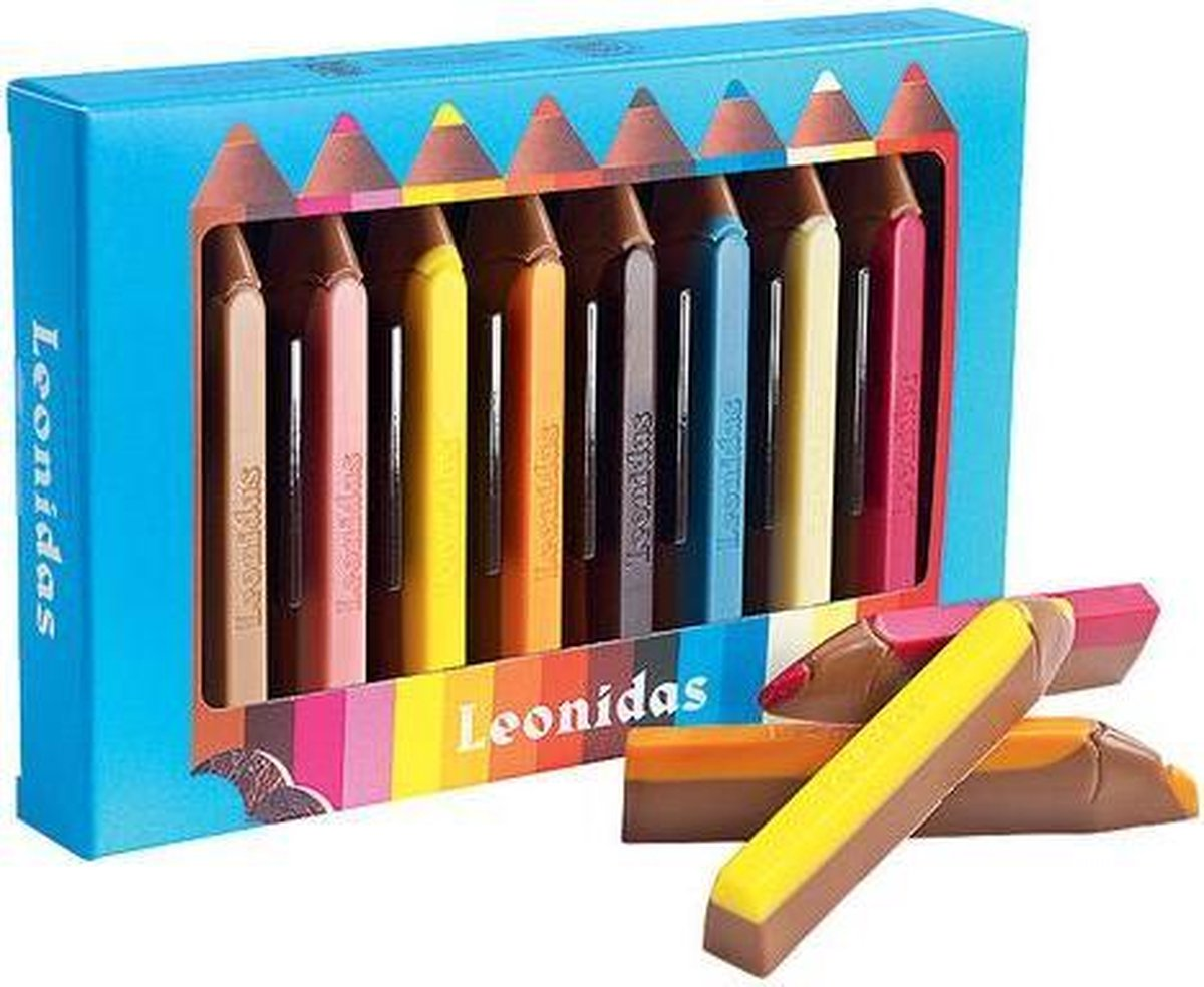 Chocoladecadeau - Leonidas Chocoladepotloden - 8 potloden