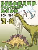 Dinosaur Coloring Book For Kids 3-8