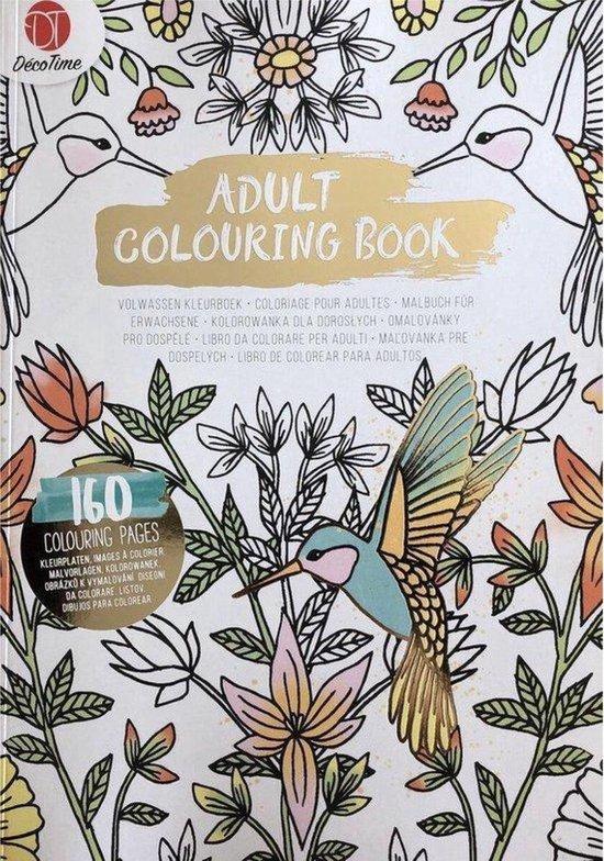 Afbeelding van Luxe Volwassen Kleurboek Goud Luxe 160 kleurplaten - Kleurboek Voor Volwassenen