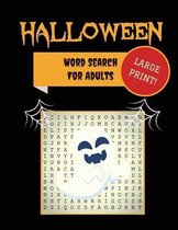 Large Print Halloween Word Search For Adults