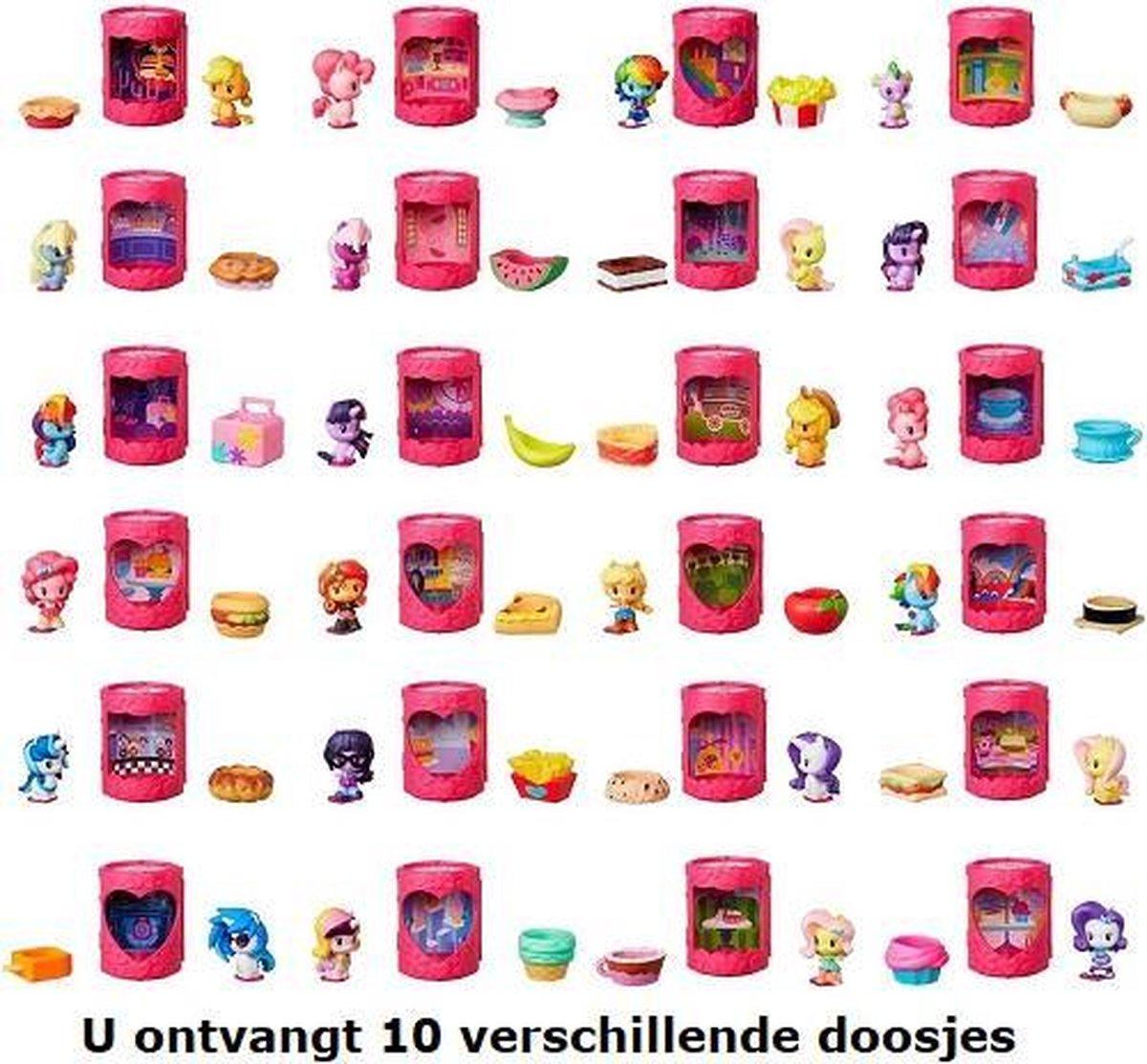 10 verschillende My Little Pony huisjes in de mix (Mysterypacks) ca 5 cm