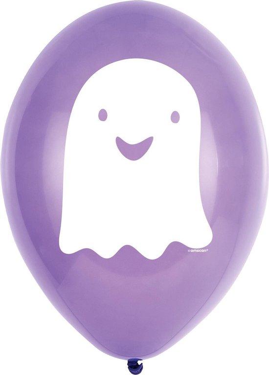 Amscan Ballon Spookje Halloween Friends 23 Cm Latex Paars 6 Stuks